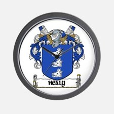 Healy Coat of Arms Wall Clock