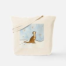 Snowflake Cat Tote Bag