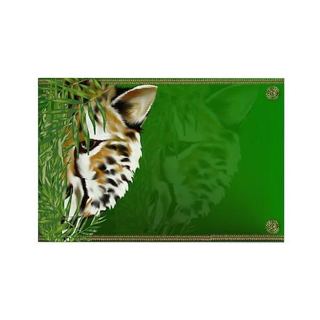 Cheetah Face Rectangle Magnet