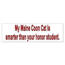 Maine Coon is Smarter Bumper Bumper Sticker