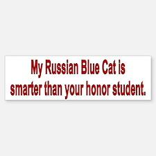 Russian Blue Cat is Smarter Bumper Bumper Bumper Sticker