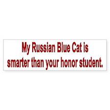 Russian Blue Cat is Smarter Bumper Bumper Sticker