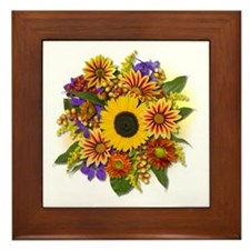 Autumn Bouquet Framed Tile