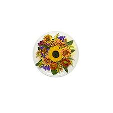 Autumn Bouquet Mini Button