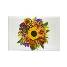 Autumn Bouquet Rectangle Magnet (100 pack)