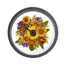 Autumn Bouquet Wall Clock
