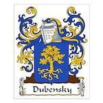 Dubensky Family Crest Small Poster