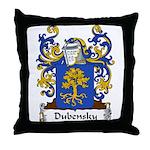 Dubensky Family Crest Throw Pillow