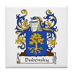 Dubensky Family Crest Tile Coaster