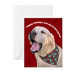 Yellow Labrador Retriever Christmas Cards (10)