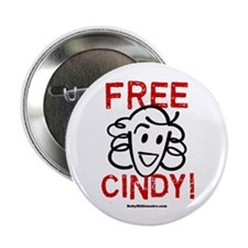 """Free Cindy! 2.25"""" Button (100 pack)"""