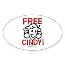 Free Cindy! Oval Decal