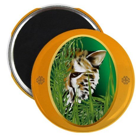 Cheetah Face in oval frame Magnet