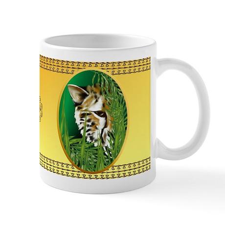 Cheetah Face in oval frame Mug