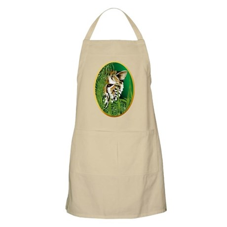 Cheetah Face in oval frame BBQ Apron