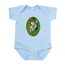 Cheetah Face in oval frame Infant Bodysuit
