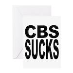 CBS Sucks Greeting Card