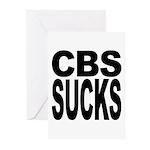 CBS Sucks Greeting Cards (Pk of 10)