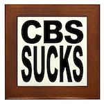 CBS Sucks Framed Tile