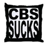 CBS Sucks Throw Pillow