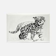 Serval Cub Rectangle Magnet