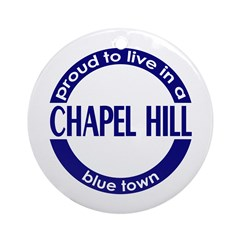 Chapel Hill: Blue Town Holiday Ornament