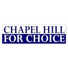 Chapel Hill for Choice (bumper sticker)