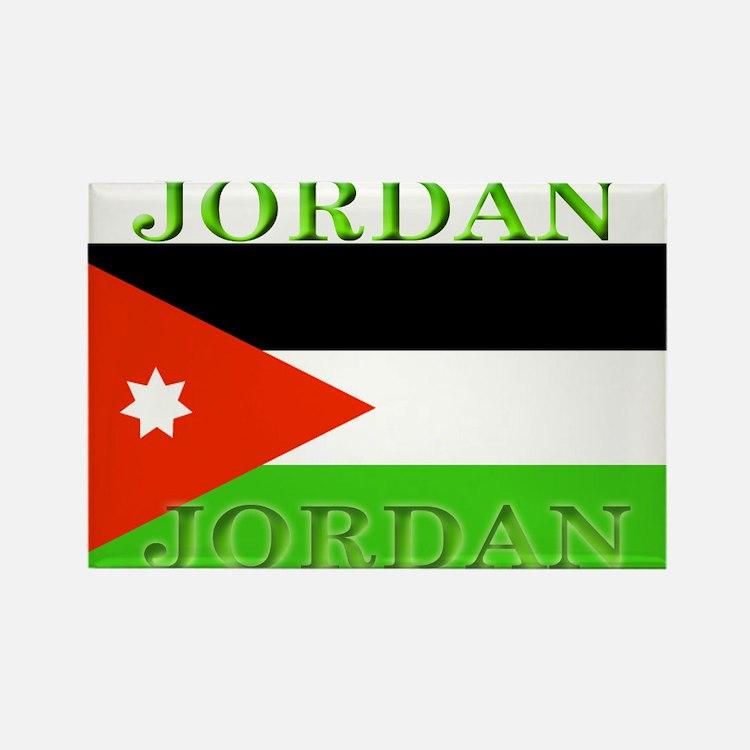 Jordan Jordanian Flag Rectangle Magnet