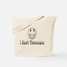 I Heart Threesomes Tote Bag