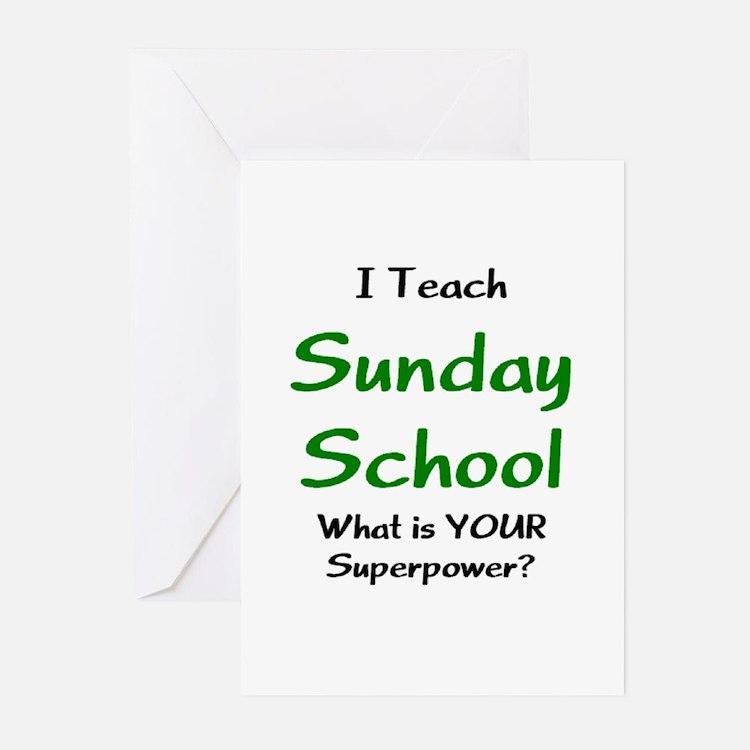 teach sunday school Greeting Cards
