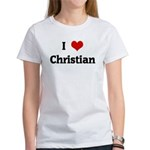 I Love Christian Women's T-Shirt