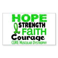 HOPE Muscular Dystrophy 3 Rectangle Decal