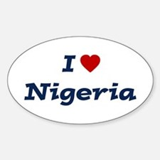 I HEART NIGERIA Oval Decal