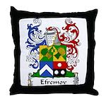 Efremov Family Crest Throw Pillow