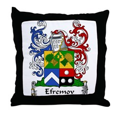 Efremov Family Crest Throw Pillow