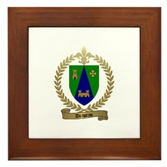 DRAPEAU Family Crest Framed Tile