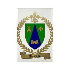 DRAPEAU Family Crest Rectangle Magnet
