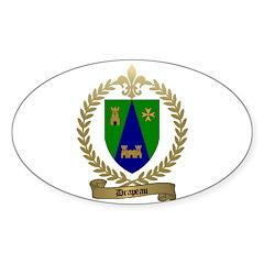 DRAPEAU Family Crest Oval Decal