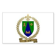 DRAPEAU Family Crest Rectangle Decal