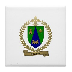DRAPEAU Family Crest Tile Coaster