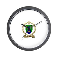 DRAPEAU Family Crest Wall Clock