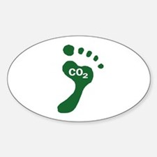 Carbon Footprint Foot Oval Decal