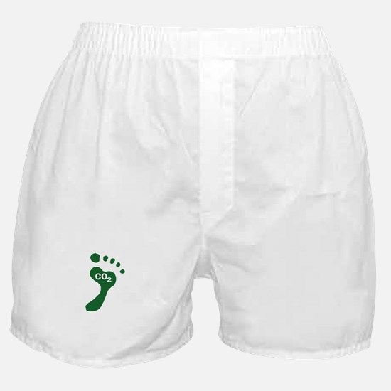 Carbon Footprint Foot Boxer Shorts