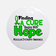 HOPE Muscular Dystrophy 5 Ornament (Round)