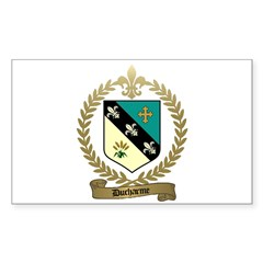 DUCHARME Family Crest Rectangle Decal