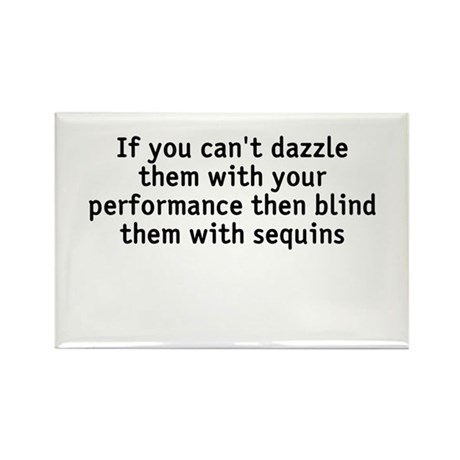Dazzle/blind Rectangle Magnet