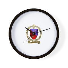 DUCHESNEAU Family Crest Wall Clock