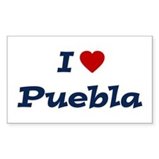 I HEART PUEBLA Rectangle Decal