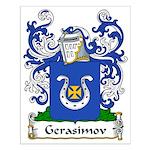 Gerasimov Family Crest Small Poster