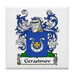 Gerasimov Family Crest Tile Coaster
